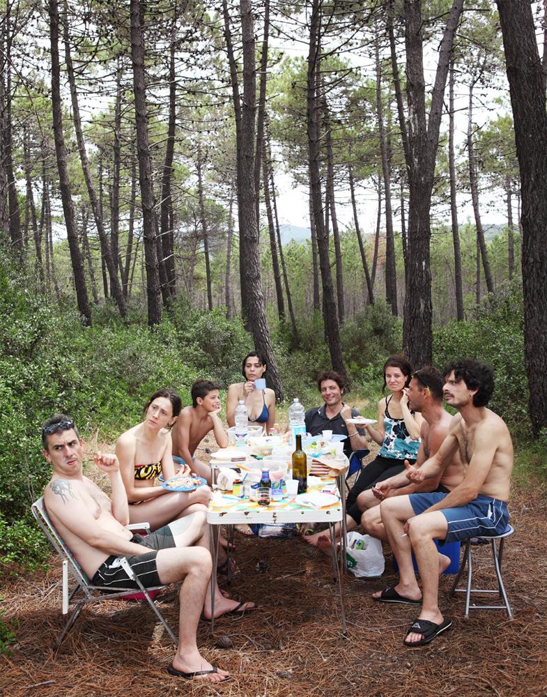 Puntala (GR) Domenica, 29/06/14 -pineta -riso freddo, insalata di farro, insalata mista, frittata, prosciutto crudo